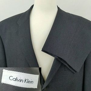 NWOT Calvin Klein SUIT 50R Gray 3 Button